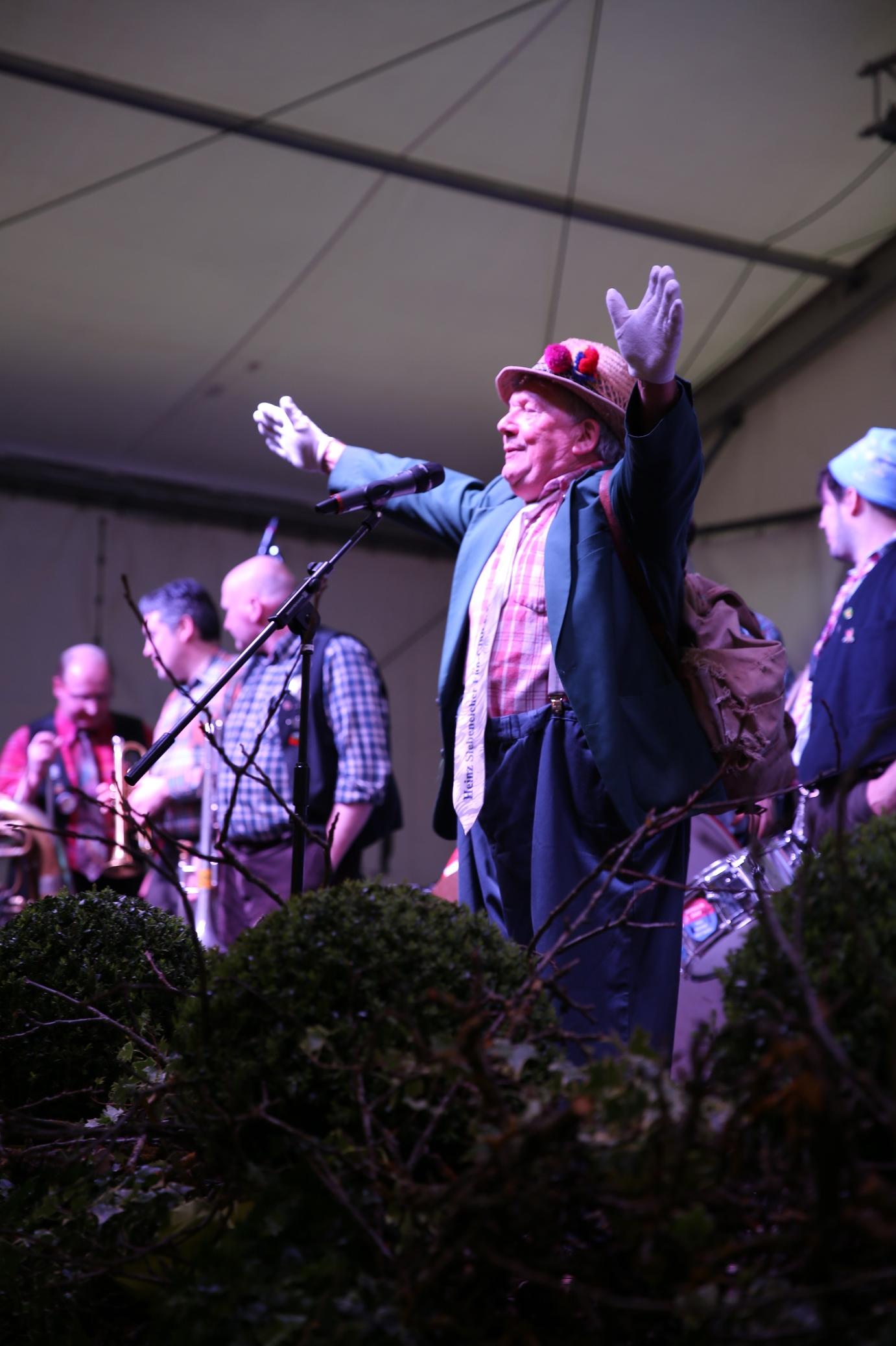 Seit 40 Jahren strapazieren sie die Lachmuskeln: Die Homberle-Bläch-Bänd aus Steinach mit Frontmann Rudolf 'Ruddel' Schmieder.